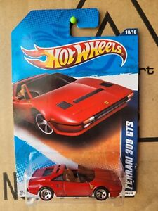 Hot Wheels 2011 - FERRARI 308 GTS [RED] VHTF NEAR MINT CAR MINT OPENED CARD