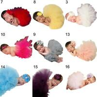 NEWBORN BABY GIRL TUTU SKIRT & HEADBAND STUDIO PHOTOGRAPHY COSTUME PROPS FUNNY