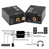 Toslink Signal Optical Coaxial Digital to Analog Audio Adapter Converter RCA L/R