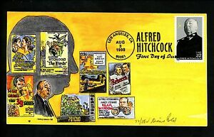 US FDC #3226 Doris Gold HP Hand Painted 1998 Los Angeles CA Hitchcock Hollywood