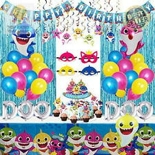 Shark Party Supplies For Baby 77 Pcs Shark Theme Birthday Party Decorations
