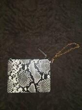 Nice! Aldo Black & White snakeskin zip wristlet wallet NWOT!