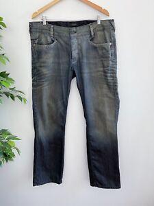Firetrap Blackseal Men's Size 36 Jeans Blue Button Fly 100% Cotton