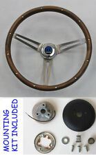 1967 Charger Dart Coronet Grant Wood Steering Wheel Walnut stainless spokes