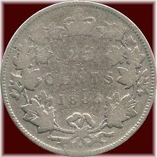 1883 'H' Canada 25 Cent Silver Coin (5.81 Grams .925 Silver)