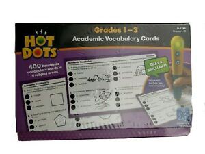 Hot Dots Educational Insights Academic Vocabulary Cards 4 Subjects Grades 1-3