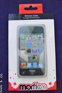 White silicone case & Screen protector for iPod Touch 4th Gen