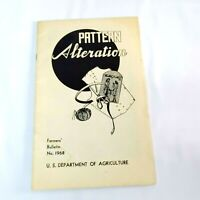 Pattern Alterations Booklet Farmers Bulletin Vintage 1968 Dept of Agriculture