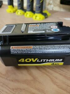 Genuine RYOBI 40 volt Lithium 4 Ah High Capacity Battery OP40401 floor model