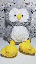 "Owl Plush DD Traders 18"" Grey White Stuffed Bird of Prey Animal Toy Gift"