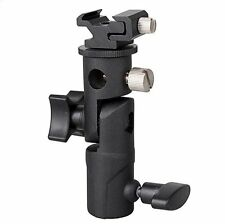 Flash Metal Holder Speedlite Hot Shoe Light Umbrella Stand E Type Bracket L DSLR