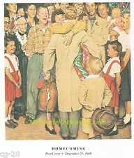 """NORMAN ROCKWELL print: """"THE HOMECOMING"""" 11x15"""" prodigal son return home holidays"""