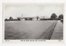 Bowling Green Purston Park Featherstone RP Postcard  213a