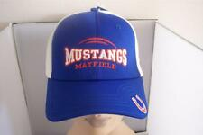 The Game Mayfield Mustangs Baseball Cap Hat One Size Fits Most Blue White Orange