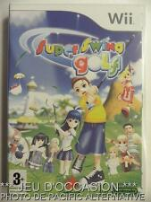 OCCASION Jeu SUPER SWING GOLF nintendo WII game francais sport reflexion COMPLET