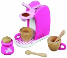 NEW PINK WOODEN K CUP COFFEE MAKER TOY SET BY MAXIM ENTERPRISES 3+