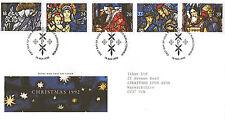 10 NOVEMBER 1992 CHRISTMAS ROYAL MAIL FIRST DAY COVER BUREAU SHS