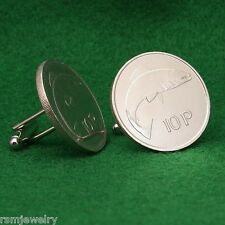 Irish Coin Cufflinks, Salmon Fish 10 Pence (Large) Ireland
