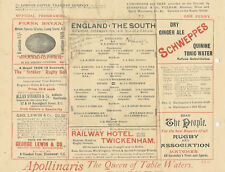 ENGLAND RUGBY INTERNATIONAL TRIAL PROGRAMME 10 Dec 1910 at TWICKENHAM