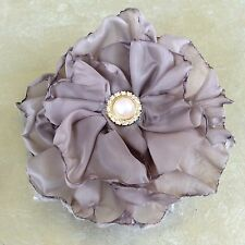 Mother of the Bride TAUPE FABRIC flower HAIR COMB - made in WA weddings formals