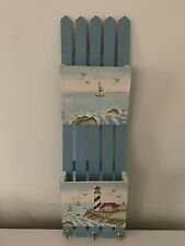 Mail And Key Organizer - Can Be Wall Mounted, New England Painted Design