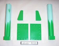 Lego Pillar Support Marbled Aqua Pattern 5960 Bright Green Tiles