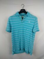 Mens Abercrombie And Fitch Blue White Striped Polo Shirt Size Large #4F2