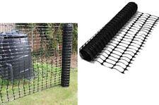1 x 15m Black Plastic Barrier Mesh Fencing Outdoor Event