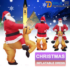 Christmas Inflatable Santa Father Jumpsuit Blow up Xmas Dress Suit Costume