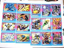 1992 X-MEN IMPEL BASE 100 CARD SET! MARVEL JIM LEE! STAN LEE! + DANGER ROOM!