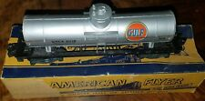 ●AMERICAN FLYER●GULF GAS CAR●S-SCALE●NEW HAVEN●CT●ORIGINAL VINTAGE CONDITION●BOX