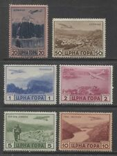 1943 MONTENEGRO  Italian occupation complete set AIR MAIL mint* , $ 140.00