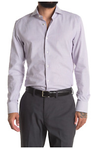 BOSS HUGO BOSS Micro Print Dress Shirt, Spread collar, Size 16.5, $158, NWT