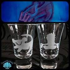 Personalised Pair Of Lion King Shot Glasses Handmade Amazing Gift! Rafiki Simba