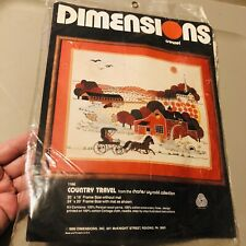 Dimensions Crewel Embroidery Country Travel Kit 1166 Charles Wysocki Sealed 1980