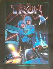 """Rare Official Tron Promotional Movie Poster 1982 - Folded Poster - 17"""" X 22"""""""