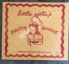 Transogram Little Sister Pastry Set incomplete toy from 1948