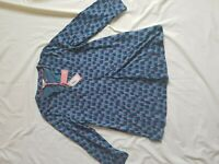 LADIES BNWT WHITE STUFF BLUE PRINT 3/4 SLEEVE TOP SIZE 10