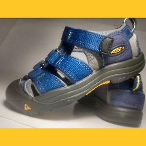 Keen Sandals Navy Blue with Yellow Toddler US 7 *Excellent Condition*