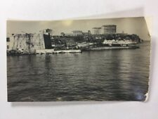 Vintage BW Real Photo #BE: Forgein Port Harbour: Cap Corse Boat