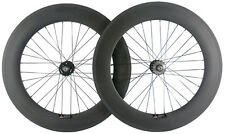700C 88mm Clincher Fixed Gear Carbon Wheelset Track Bike Wheels Single Speeds