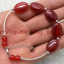 Gemstone Beads Bracelet 7.5'' Aaa+ Natural 13x18mm Red Ruby Oval