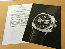 Press Kit PANERAI Radiomir Chrono 44mm - Picture + Details - Watch NOT Included