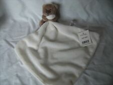 "GEORGE AT ASDA CREAM CUDDLE BLANKET / HUG TOY/ COMFORTER WITH TAGS 10"" x 10"""