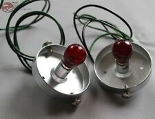 Custom Tail Light Lamp Bases Red Bulb Wire Pigtail Hot Rat Rod Truck 59 Cadillac