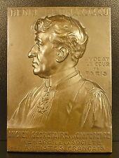Médaille plaque artiste peintre & avocat Henri BERNARDEAU s L Janvier 1910 medal