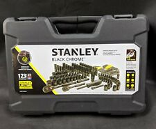 STANLEY 123-Piece Mechanics Tool Set, Black Chrome STMT72254W Universal Ratchet