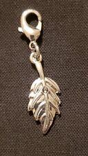 Small Leaf Dangle Charm - Silver-tone - NEW