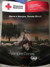 THE VAMPIRE DIARIES TVD  Poster WESLEY CW Somerhalder DOBREV Red Cross 18 X 24