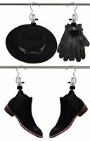 Portable Laundry Hooks Pack Of 12 Hanging Clothes Boots Towels Pins Hold Clips